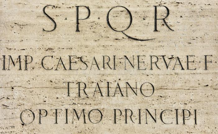 latin-inscription-roman-emperor-trajan-s-monument-pedestal-imperial-forum-s-p-q-r-caesar-nerva-best-67130032