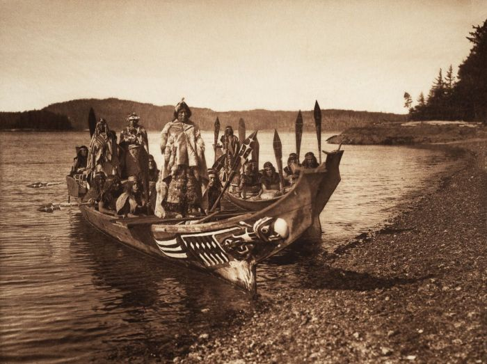 Kwakiutl wedding party 1914